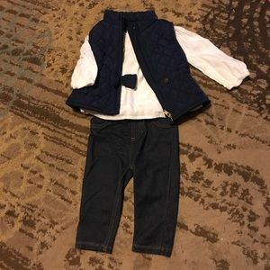 Baby girl puffer vest outfit